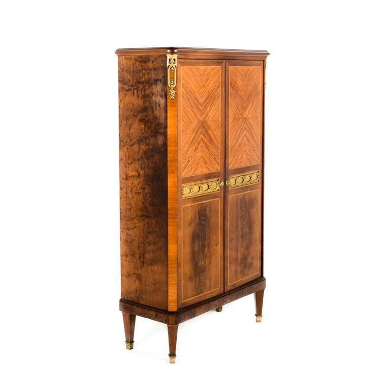 Small Superior Quality Louis Xvi Style Two Door Cabinet Circa 1920s