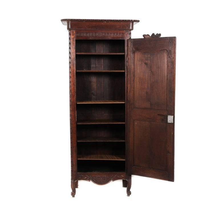 Antique French Single-Door Armoire 2