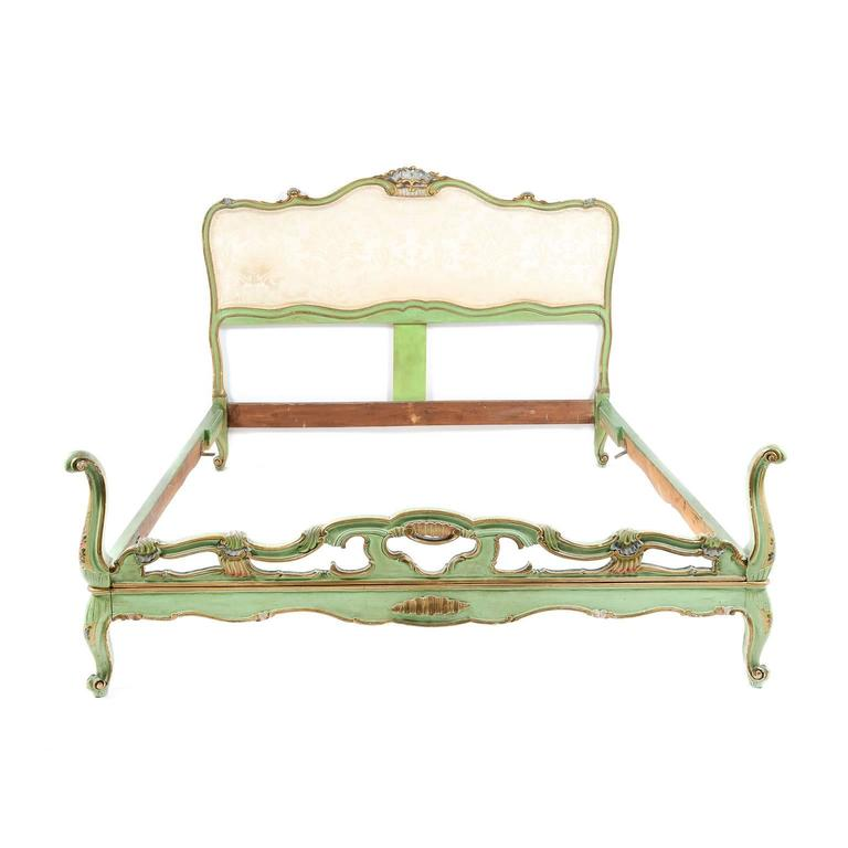 Antique Italian Painted Bed In Queen Size Circa 1900 At 1stdibs