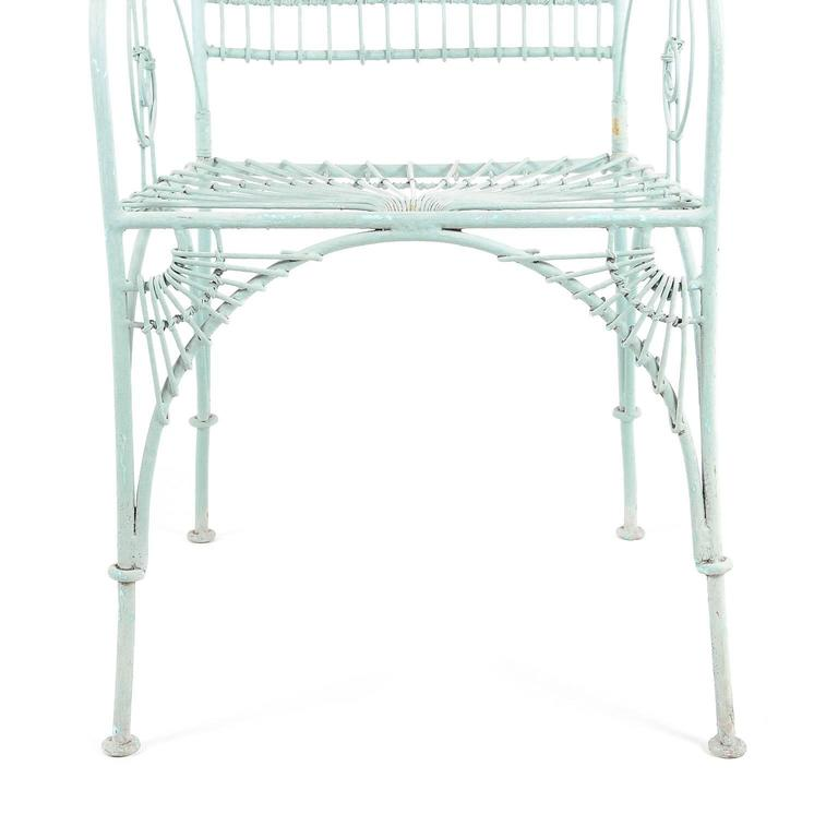 French Antique Wrought Iron Patio Chairs Circa 1930 From