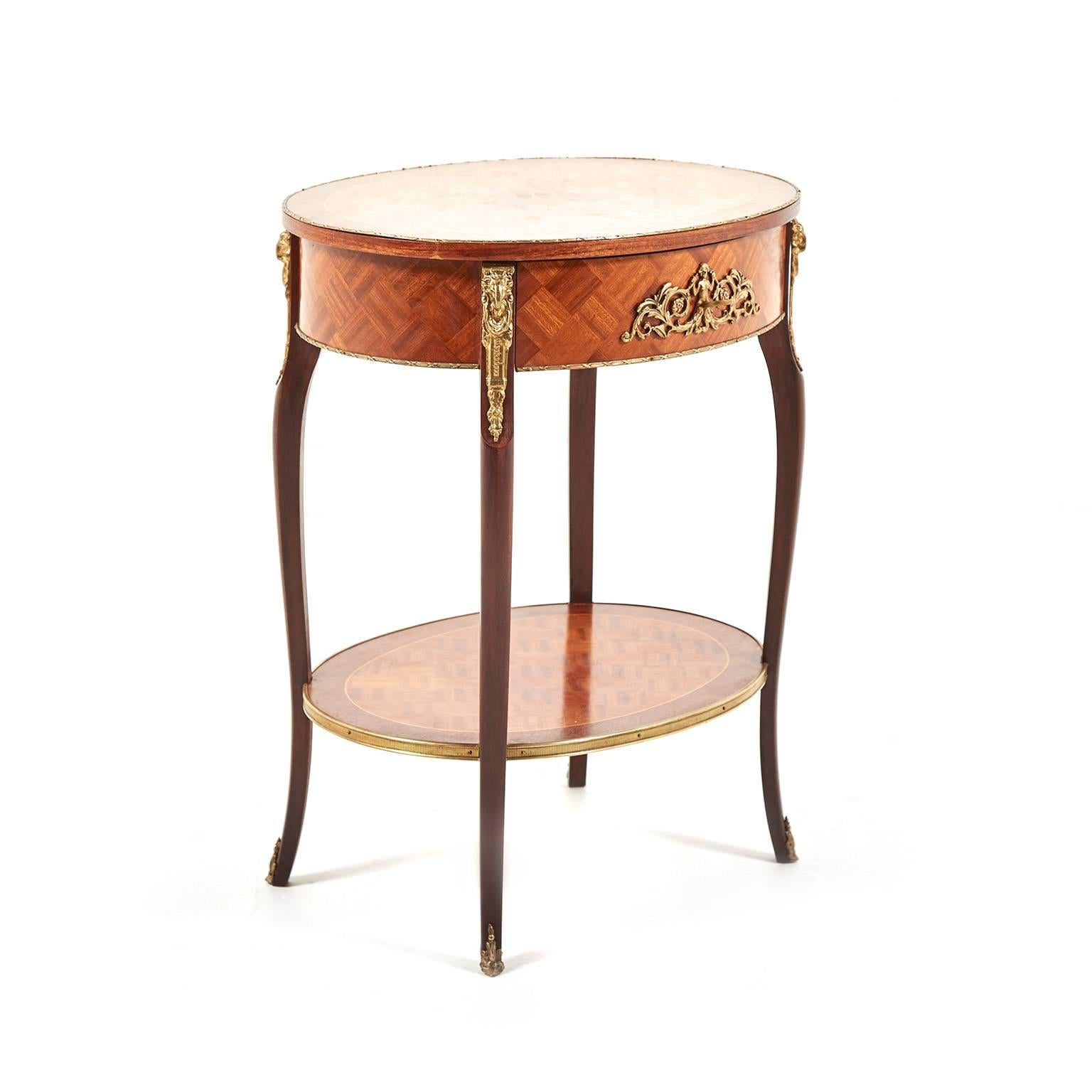 Small Antique Louis XV Style Side Table 3