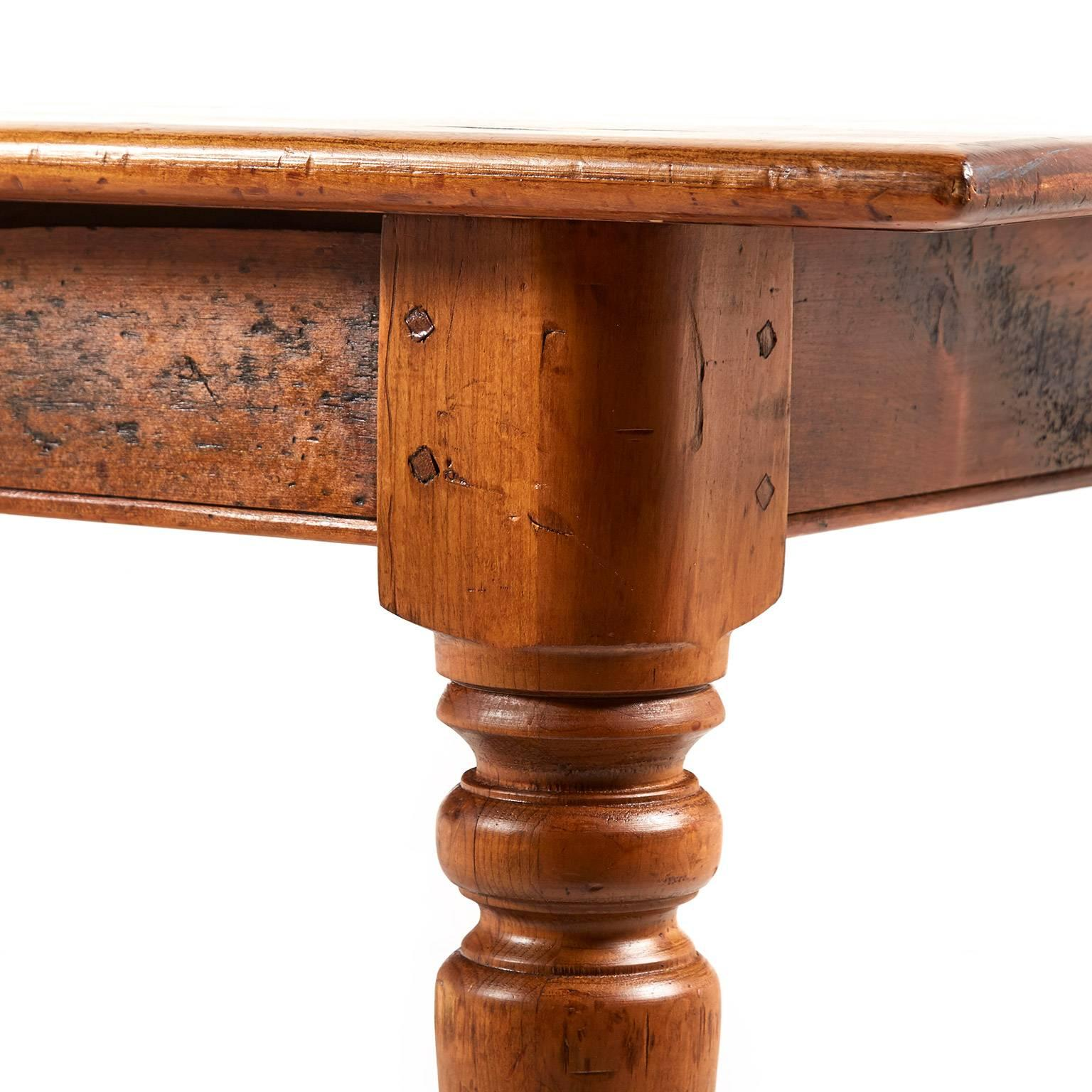 Antique 19th Century Pine Harvest Table At 1stdibs