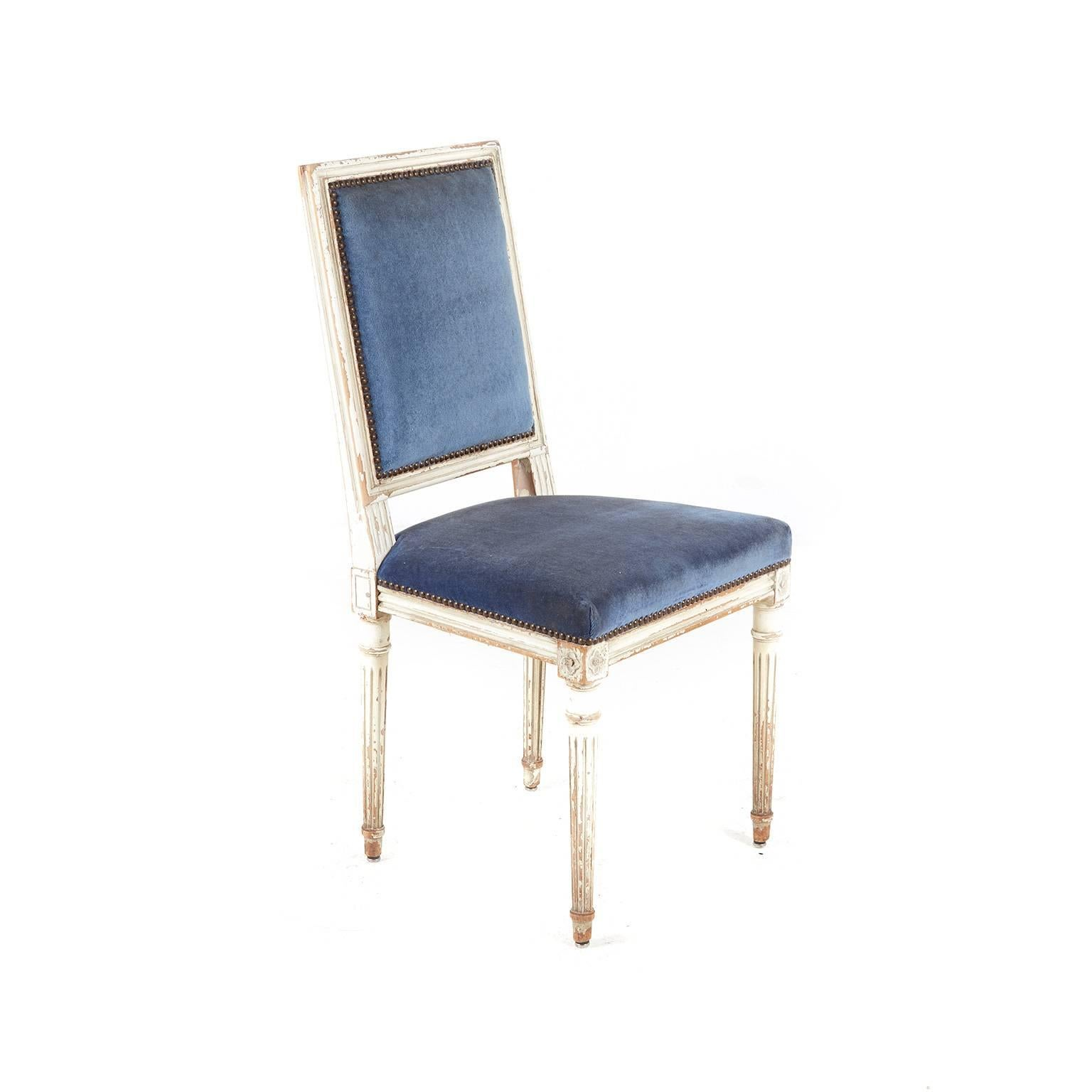French Set Of Ten 19th Century Louis XVI Style Dining Chairs For Sale