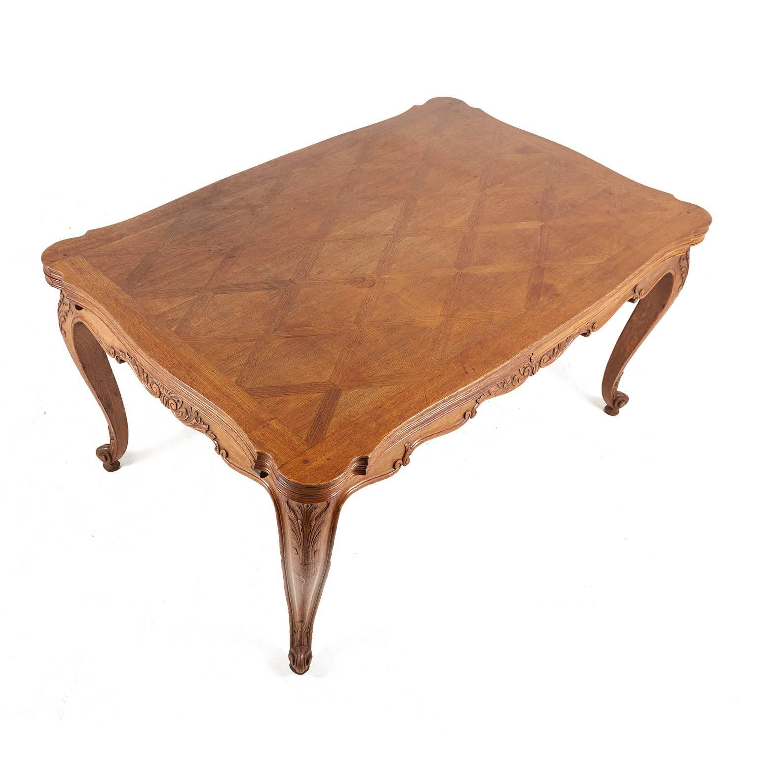 Antique Louis XV Style Draw Leaf Table 2