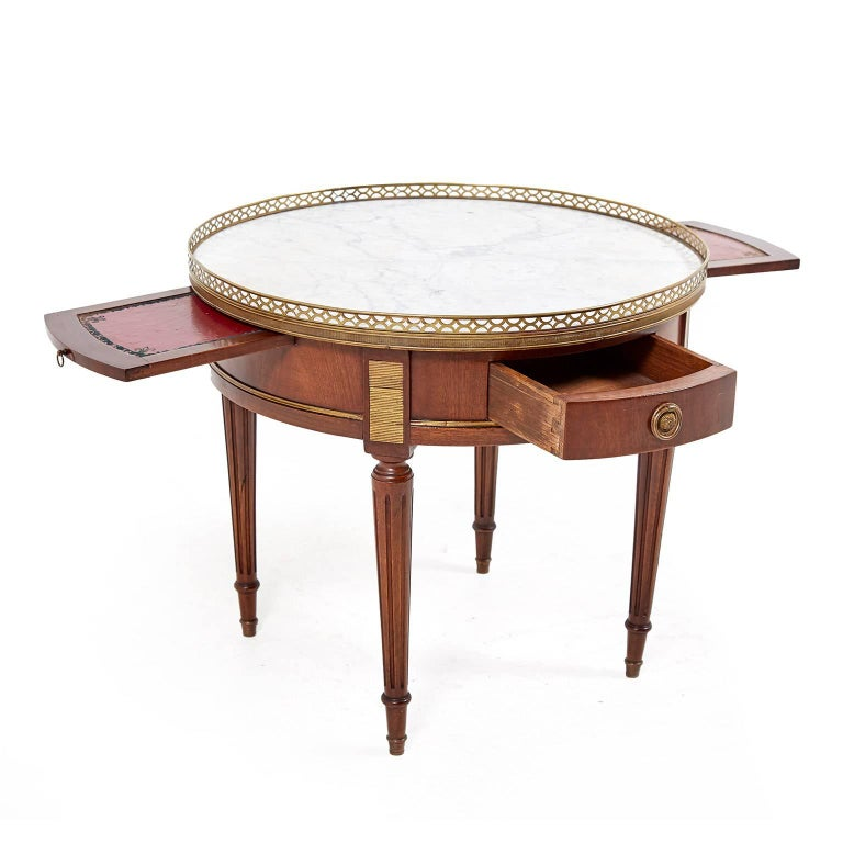 small french marble top louis xvi style coffee table circa 1920 for sale at 1stdibs. Black Bedroom Furniture Sets. Home Design Ideas