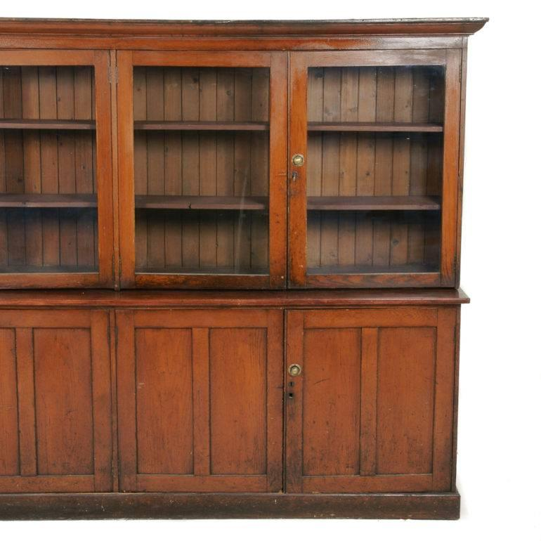 Canadian Large Oak Mercantile Pharmacy Cabinet Circa 1910 For Sale