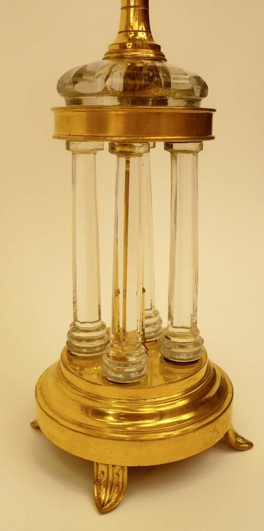 George III Pair of Gilt Bronze and Cut Crystal Candelabra, Attributed to William Parker For Sale