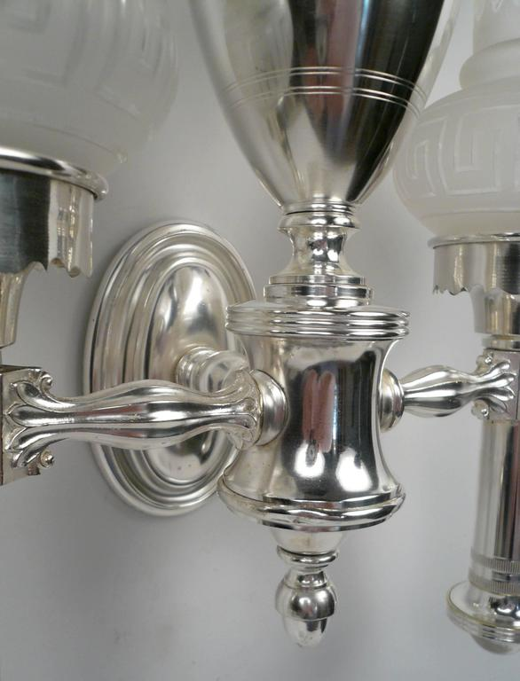 Set of Four Argand Style Two-Light Sconces 5