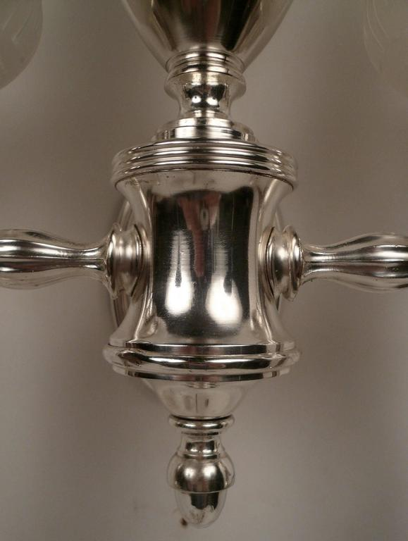 Set of Four Argand Style Two-Light Sconces 7