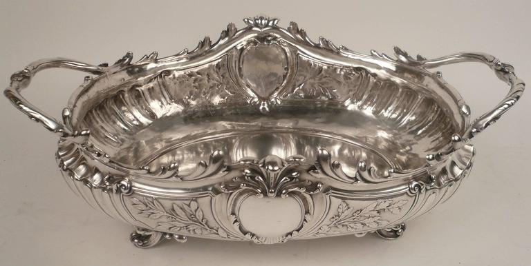 Impressive Signed Christofle Sliver Centerpiece In Excellent Condition For Sale In Pittsburgh, PA