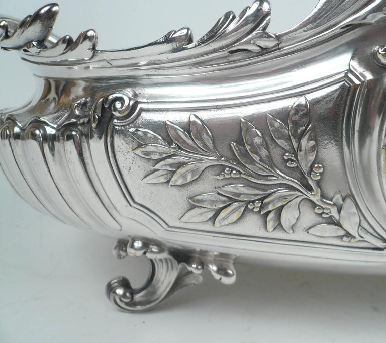 Silvered Impressive Signed Christofle Sliver Centerpiece For Sale