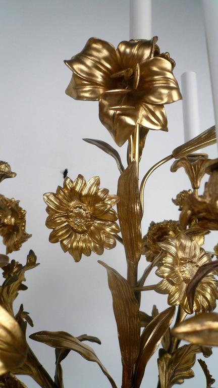 Large Pair of Louis XVI Style Gilt Bronze and Marble Candelabra For Sale 5
