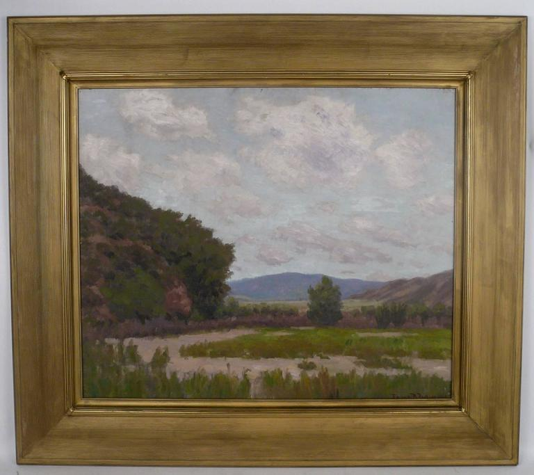 Beaux Arts California Landscape by American Impressionist Painter Edward B. Butler For Sale