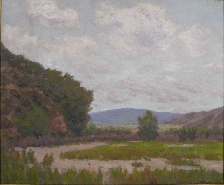 Edward Burgess Butler, 1853-1928, studied with F. C. Peyraud. He was exhibited at The Art Institute of Chicago, and The Panama-Pacific International Exhibition of 1915. This painting is in excellent condition, and retains its original American Arts