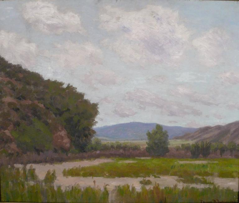 20th Century California Landscape by American Impressionist Painter Edward B. Butler For Sale
