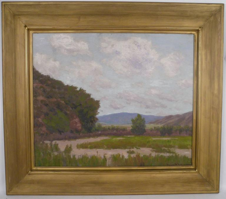 Oil California Landscape by American Impressionist Painter Edward B. Butler For Sale
