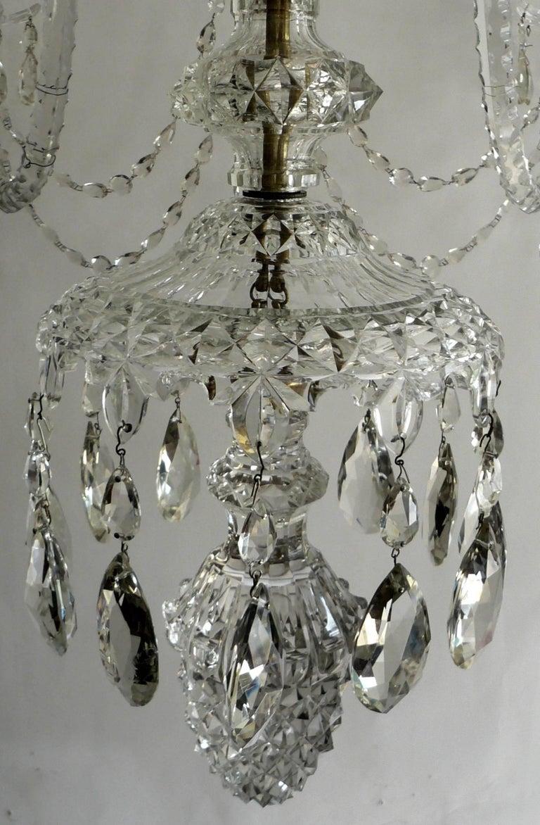 Massive Georgian Style Anglo Irish Crystal Chandelier By