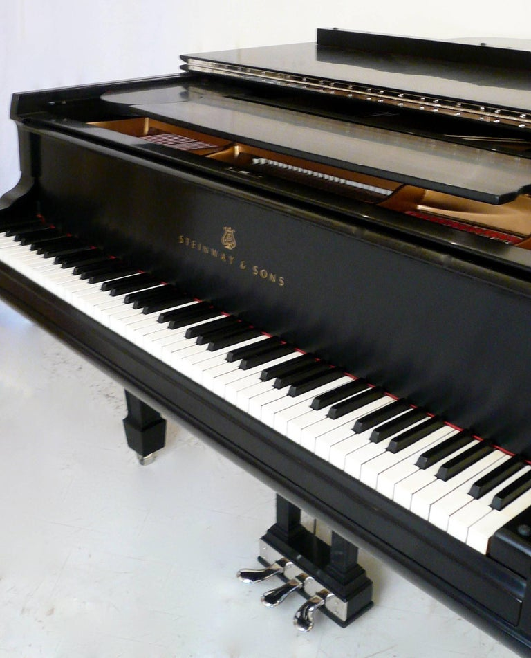 This concert quality vintage Steinway semi-concert grand piano has been totally restored, and is in like new condition.