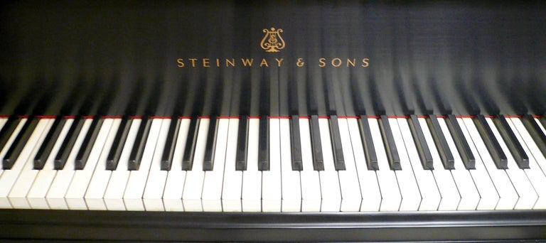 American Steinway and Sons Ebony Grand Piano, Model