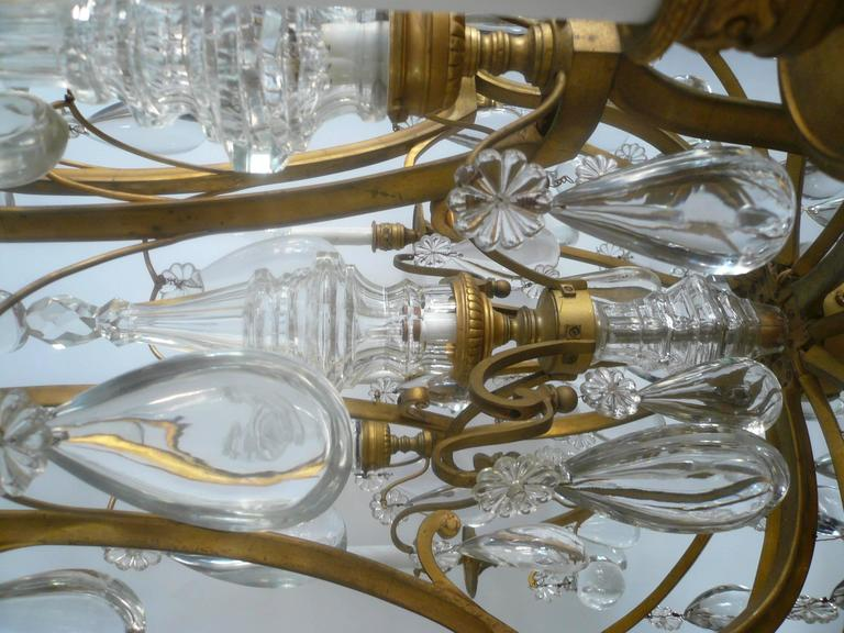 Gilt Bronze and Crystal Louis XVI Style Chandelier 6