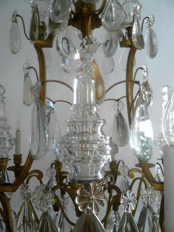 Gilt Bronze and Crystal Louis XVI Style Chandelier 9