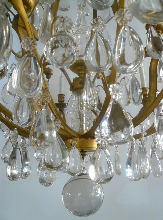Gilt Bronze and Crystal Louis XVI Style Chandelier 2