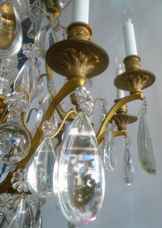 Gilt Bronze and Crystal Louis XVI Style Chandelier 3