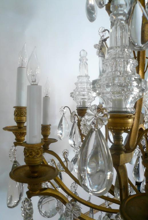 Gilt Bronze and Crystal Louis XVI Style Chandelier 8