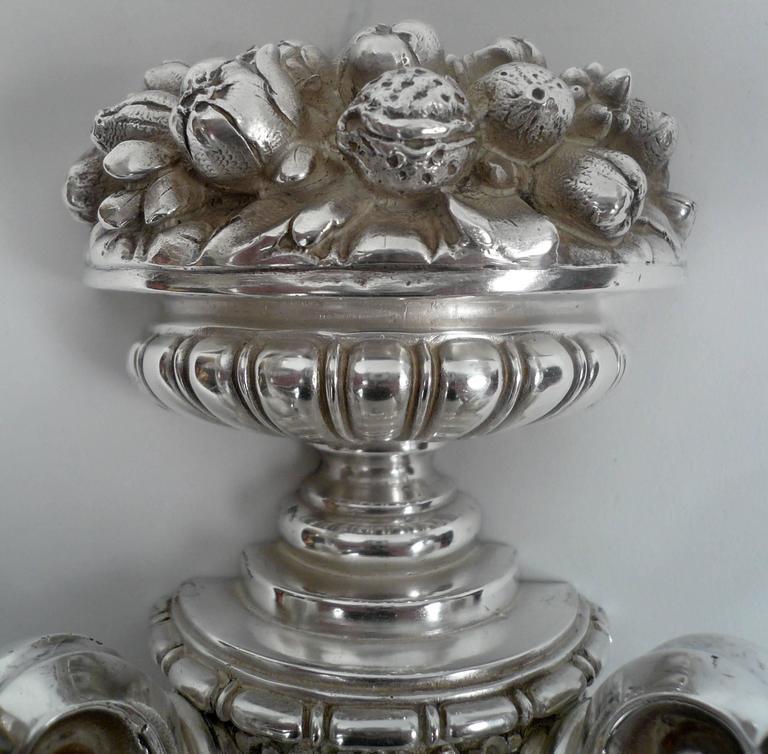 Four E. F. Caldwell Silver Plated Bronze Sconces 3