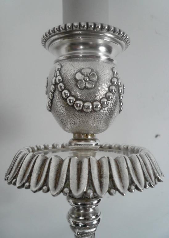 Four E. F. Caldwell Silver Plated Bronze Sconces 4