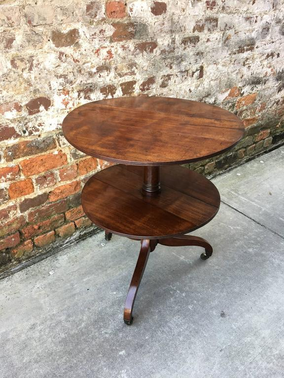 English Two-Tier Dumb Waiter with Drop Leaves, 19th Century In Good Condition For Sale In Charleston, SC