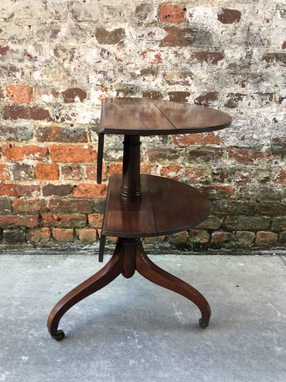 Mid-19th Century English Two-Tier Dumb Waiter with Drop Leaves, 19th Century For Sale