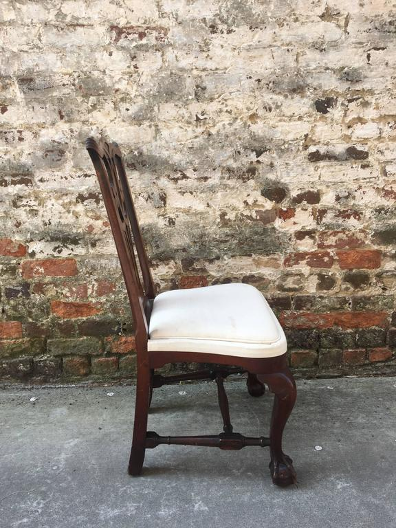 !9th Century American Mahogany Side Chair with Ball and Claw Feet In Good Condition For Sale In Charleston, SC