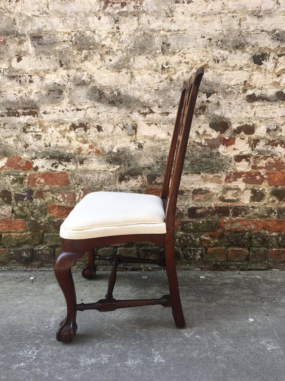 18th Century !9th Century American Mahogany Side Chair with Ball and Claw Feet For Sale