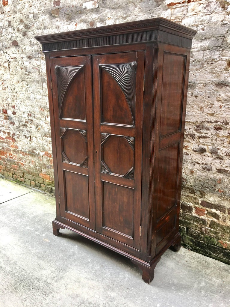 West Indian Mahogany Small-Scale Armoire with Bottom ...