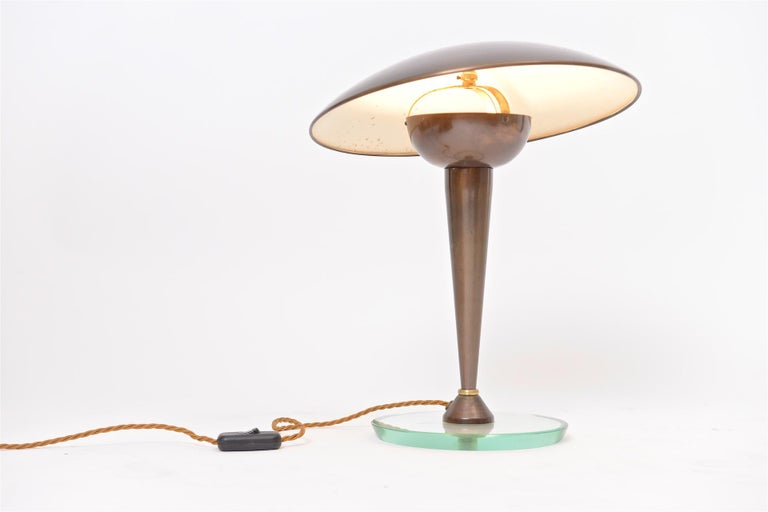 Torlasco Style Table Light with Articulated Shade In Good Condition For Sale In London, GB