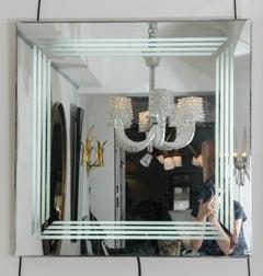 Illuminated mirror, circa 1970