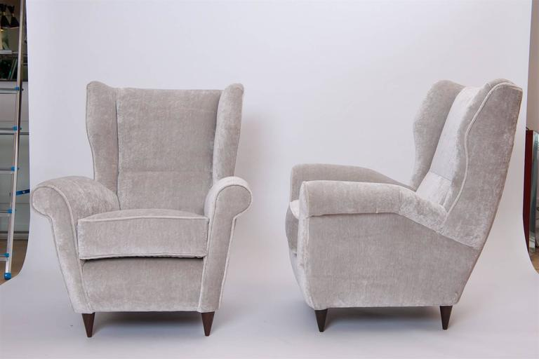 Pair of Italian Armchairs, circa 1950 2