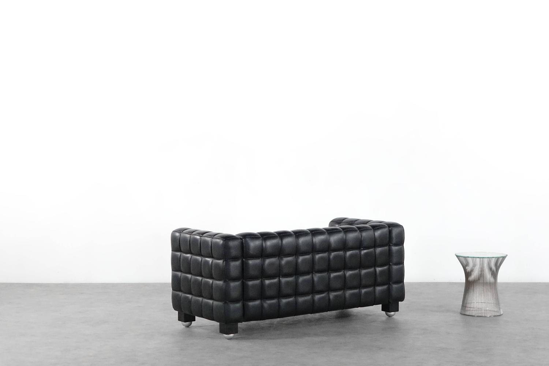 Josef Hoffmann Kubus Sofa Wittmann Austria Design Bauhaus Leather Jugendstil At 1stdibs
