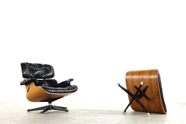 Very Early Charles & Ray Eames Lounge Chair from Contura 1957-1965 7