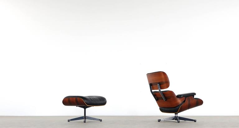 Vitra Chalres Eames : Vitra charles eames lounge chair and ottoman in rio rosewood