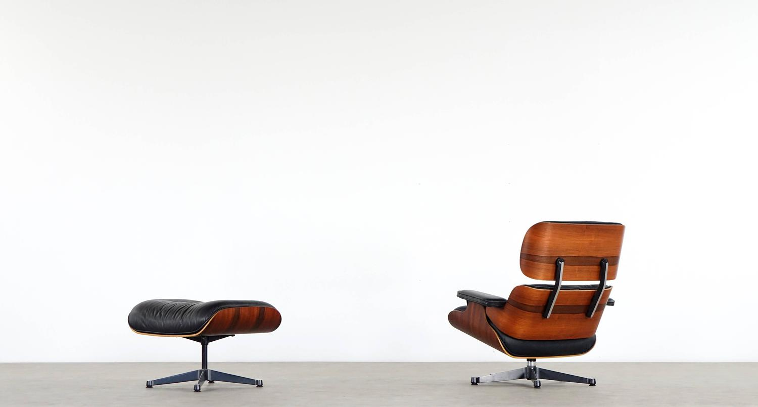 vitra charles eames lounge chair and ottoman in rio rosewood herman. Black Bedroom Furniture Sets. Home Design Ideas