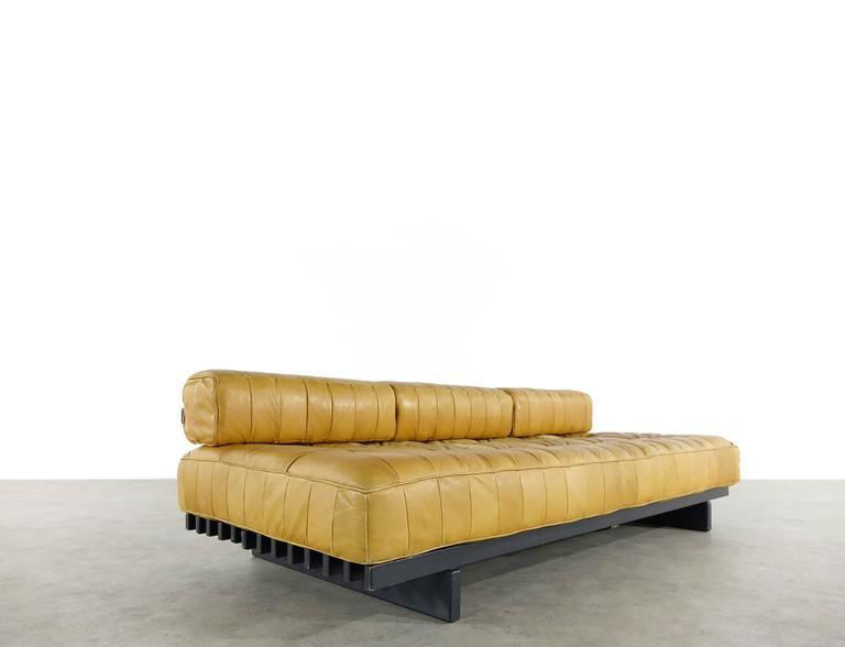 De Sede DS80 Daybed and Sofa in Cognac Aniline Leather, 1969 7