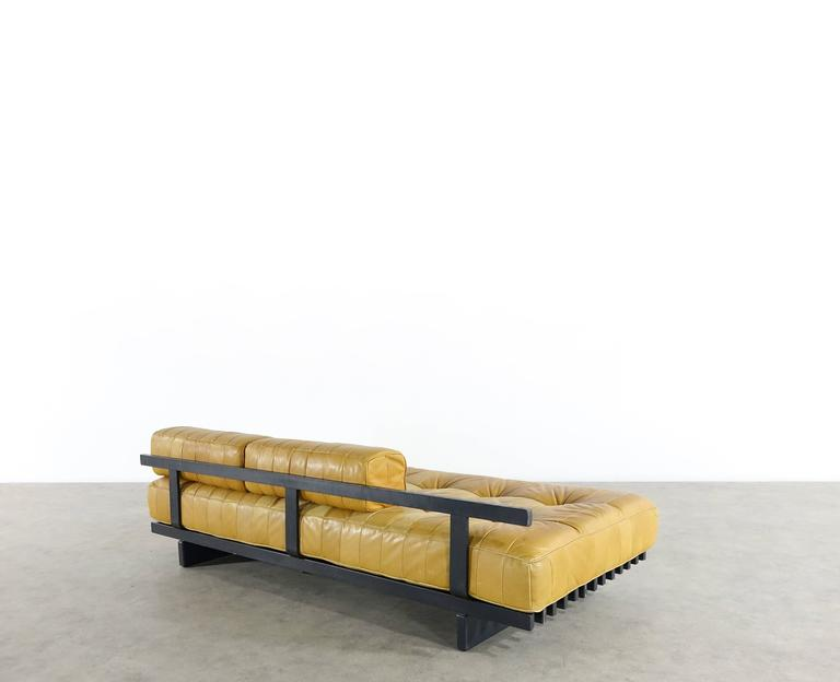 De Sede DS80 Daybed and Sofa in Cognac Aniline Leather, 1969 5