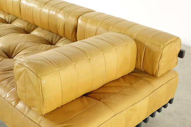 De Sede DS80 Daybed and Sofa in Cognac Aniline Leather, 1969 3