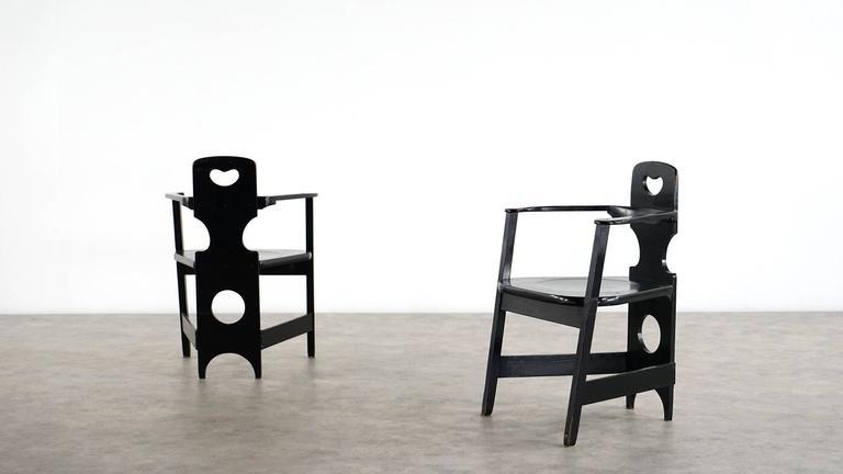 Two Rare Richard Riemerschmid Armchair, Germany, 1900 Jugendstil Modernism 10