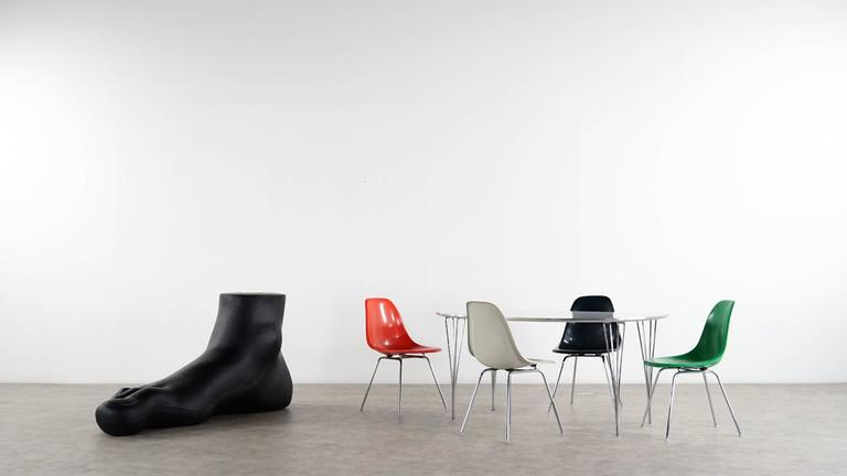 Charles Eames, Rare Set of Four Siede Chairs, Fehlbaum Prod, Vitra Etc For Sale 3