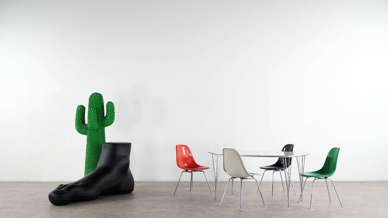 Charles Eames, Rare Set of Four Siede Chairs, Fehlbaum Prod, Vitra Etc 3