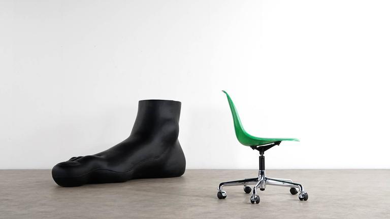 American Charles Eames, Original Swivel Office Side Chair and Green Shell, Herman Miller For Sale