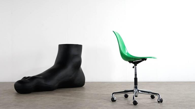 Charles Eames, Original Swivel Office Side Chair and Green Shell, Herman Miller In Excellent Condition For Sale In Munster, NRW
